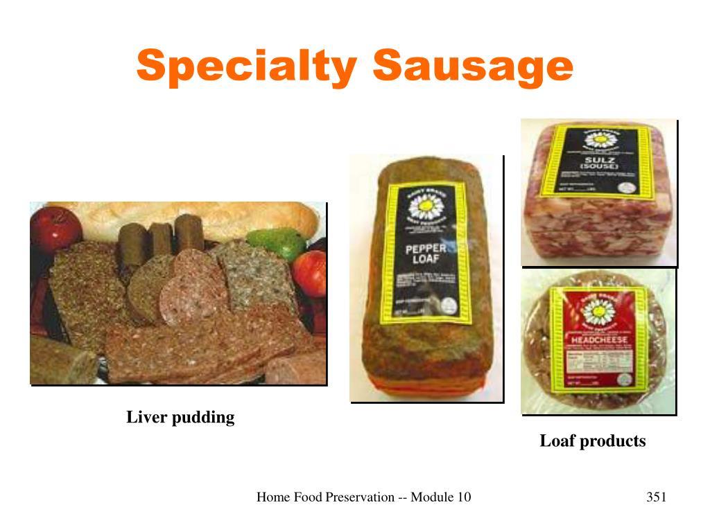 Specialty Sausage