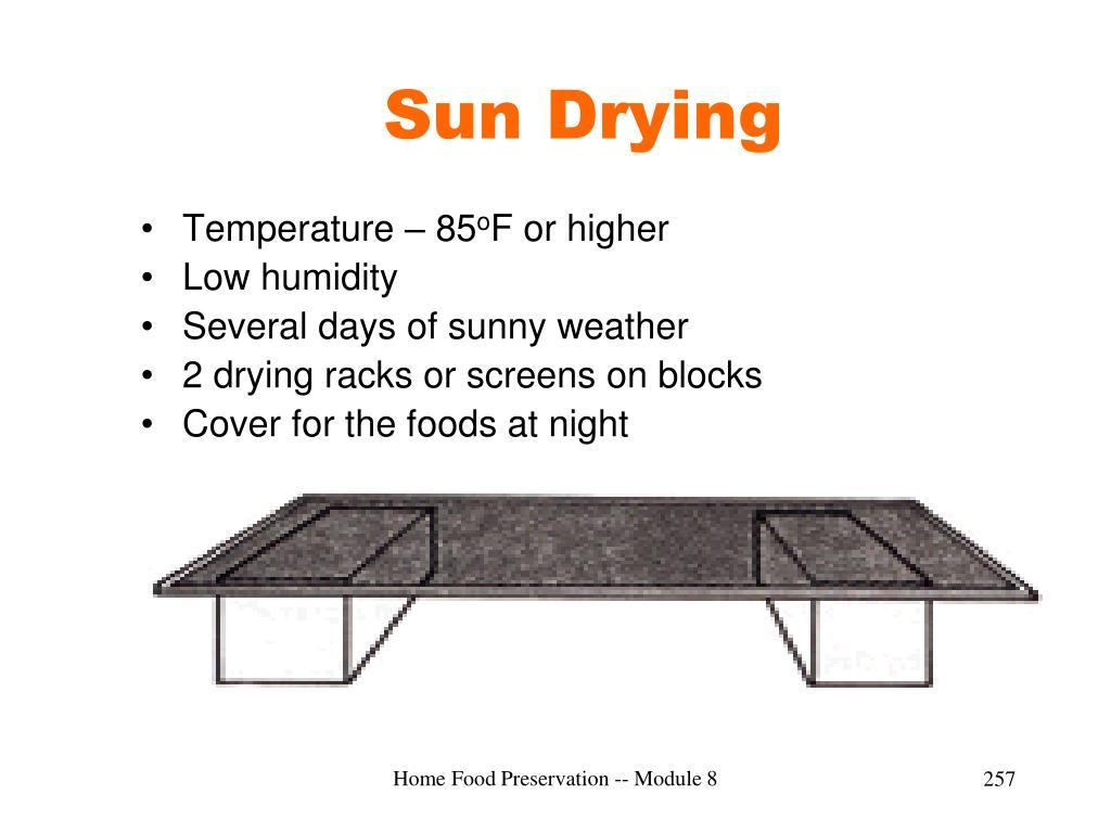 Sun Drying