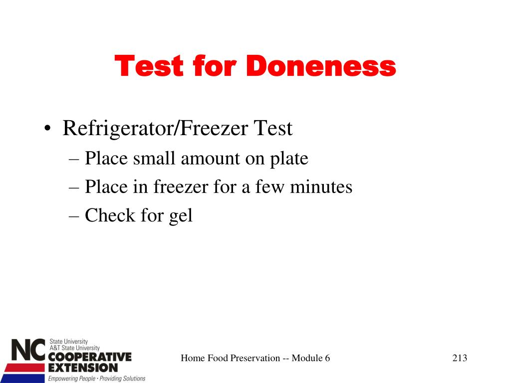 Test for Doneness