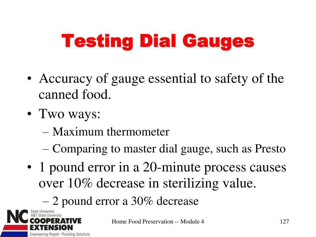 Testing Dial Gauges