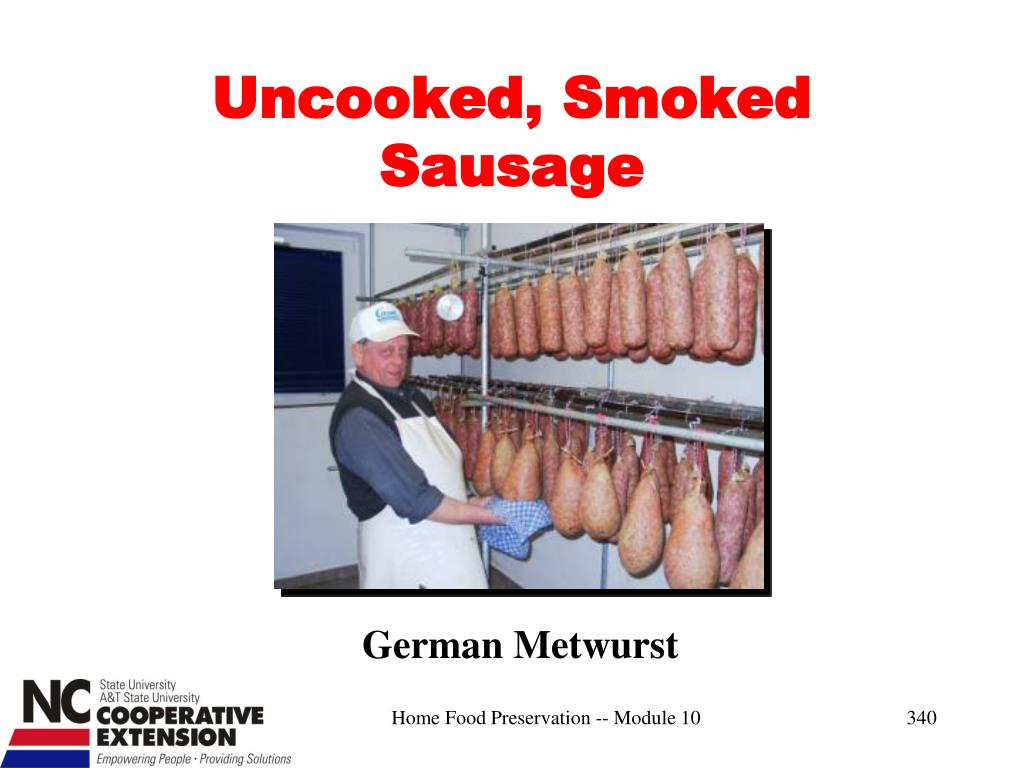 Uncooked, Smoked Sausage