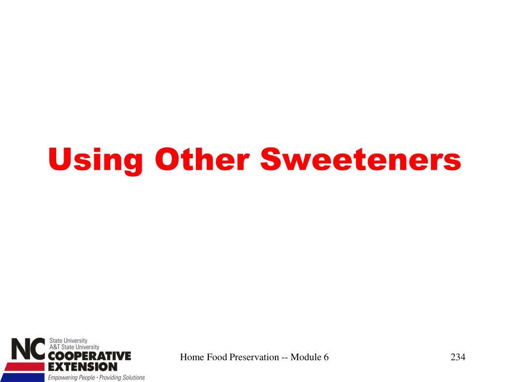 Using Other Sweeteners