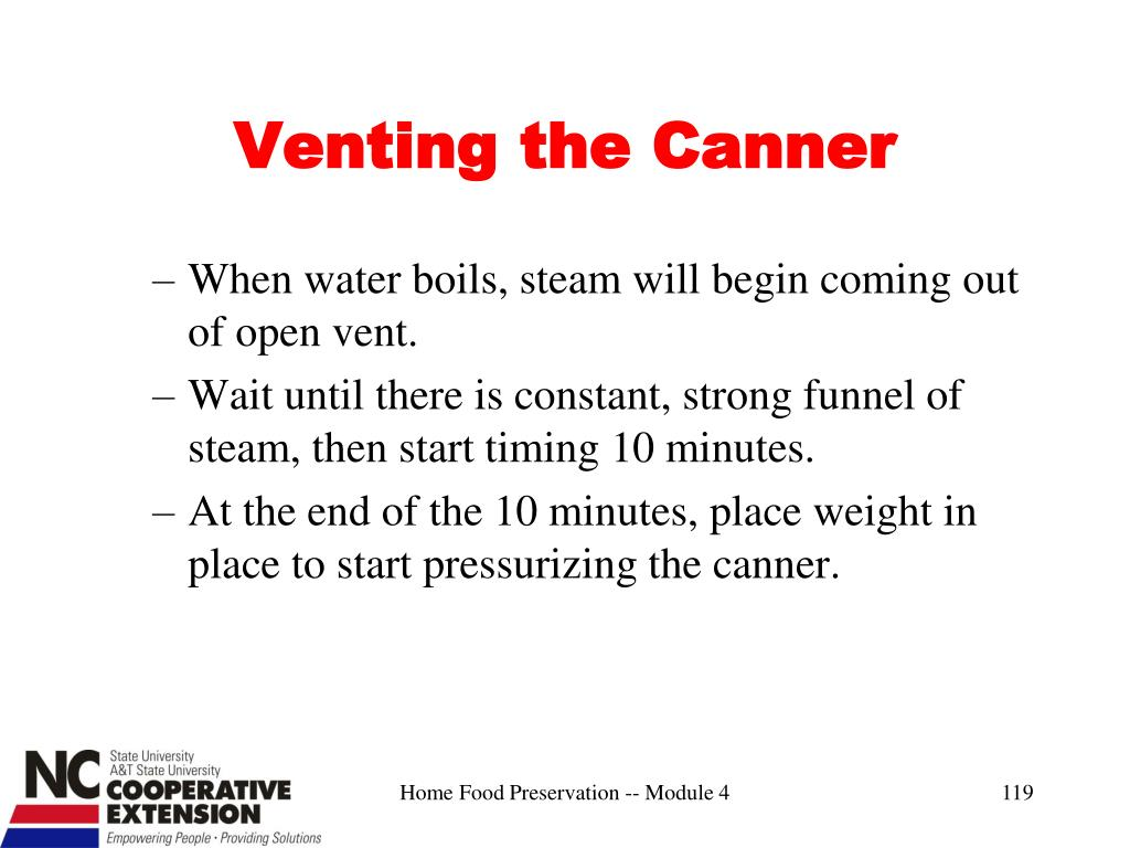 Venting the Canner