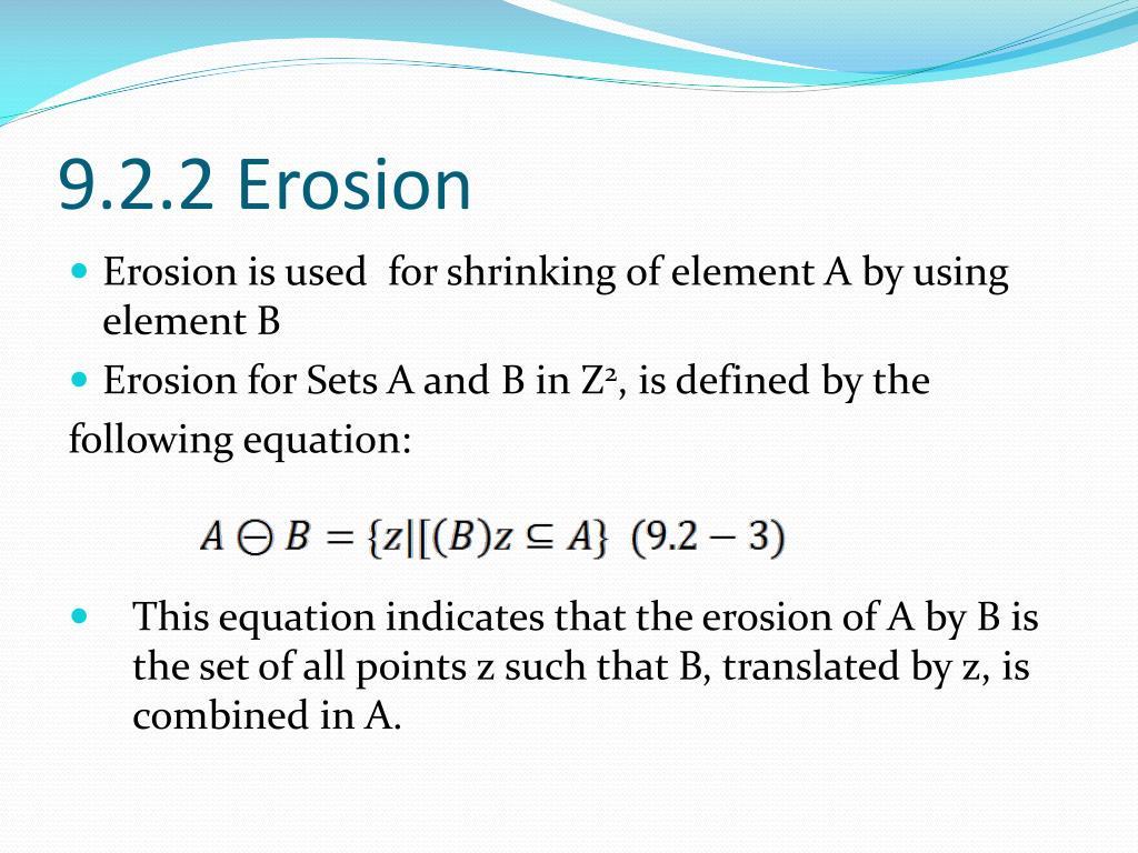 9.2.2 Erosion
