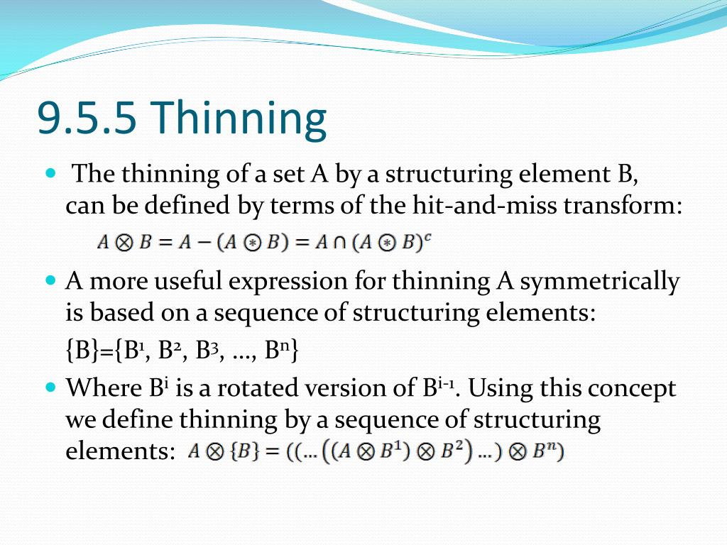 9.5.5 Thinning