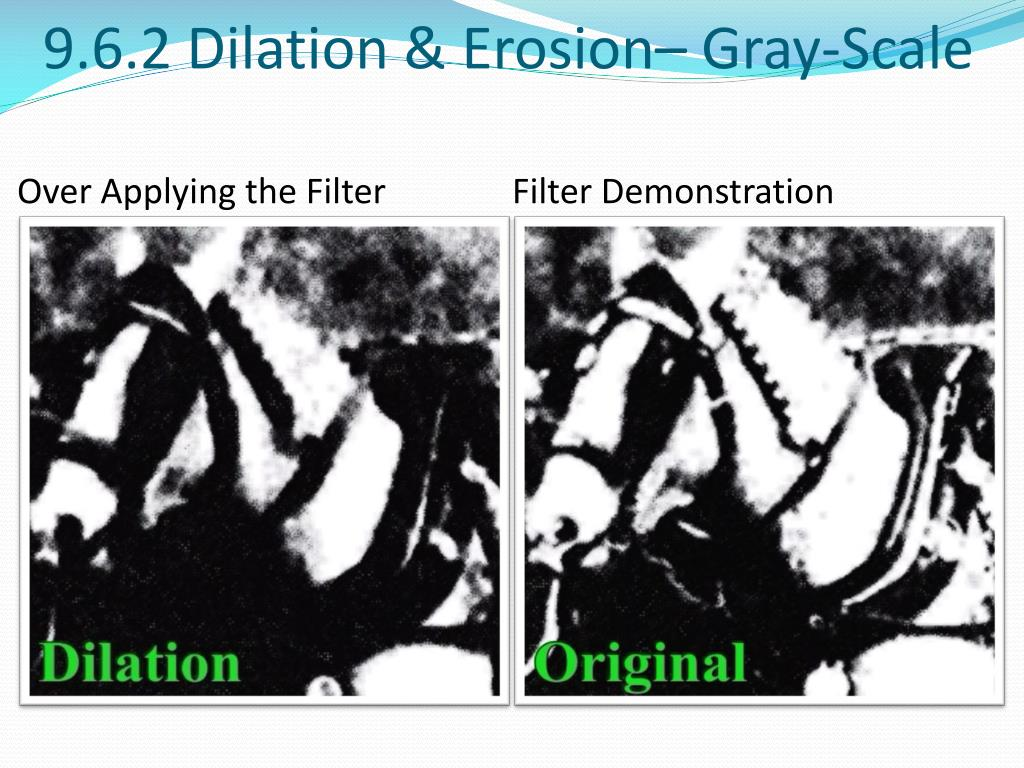 9.6.2 Dilation & Erosion– Gray-Scale