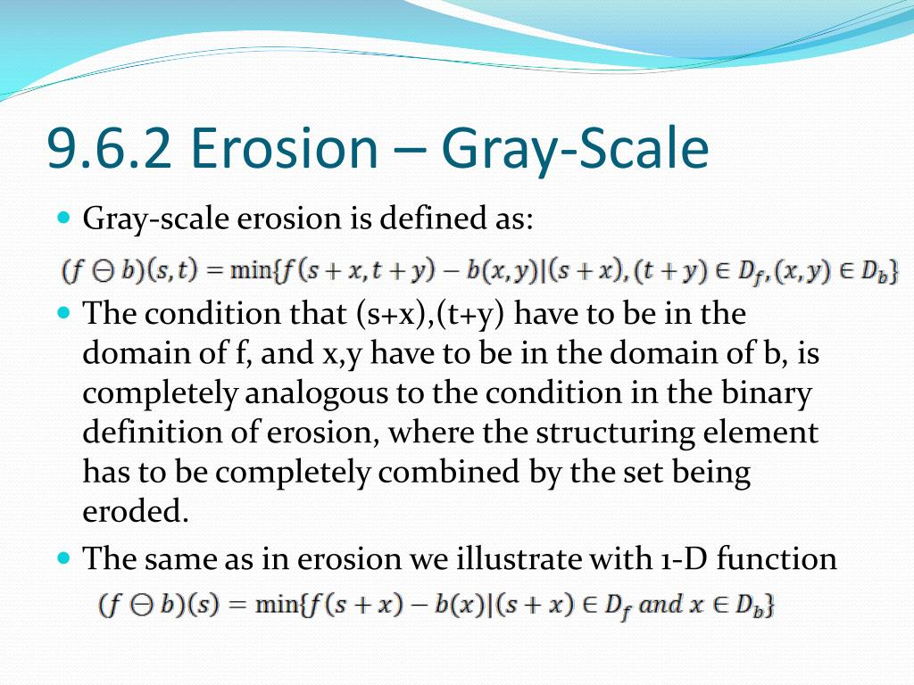 9.6.2 Erosion – Gray-Scale