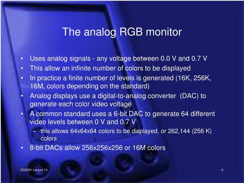 The analog RGB monitor