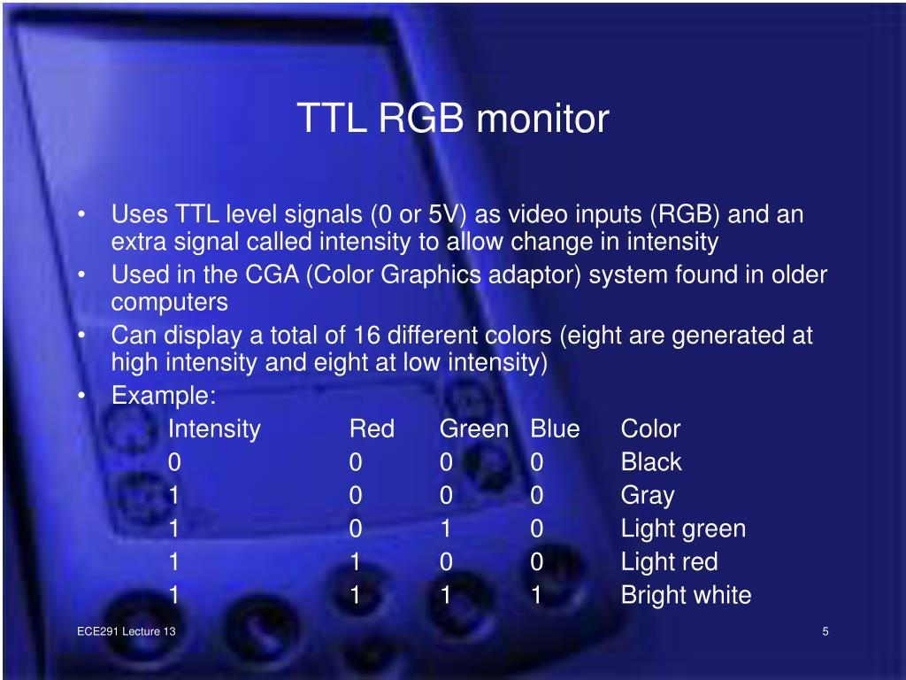 TTL RGB monitor