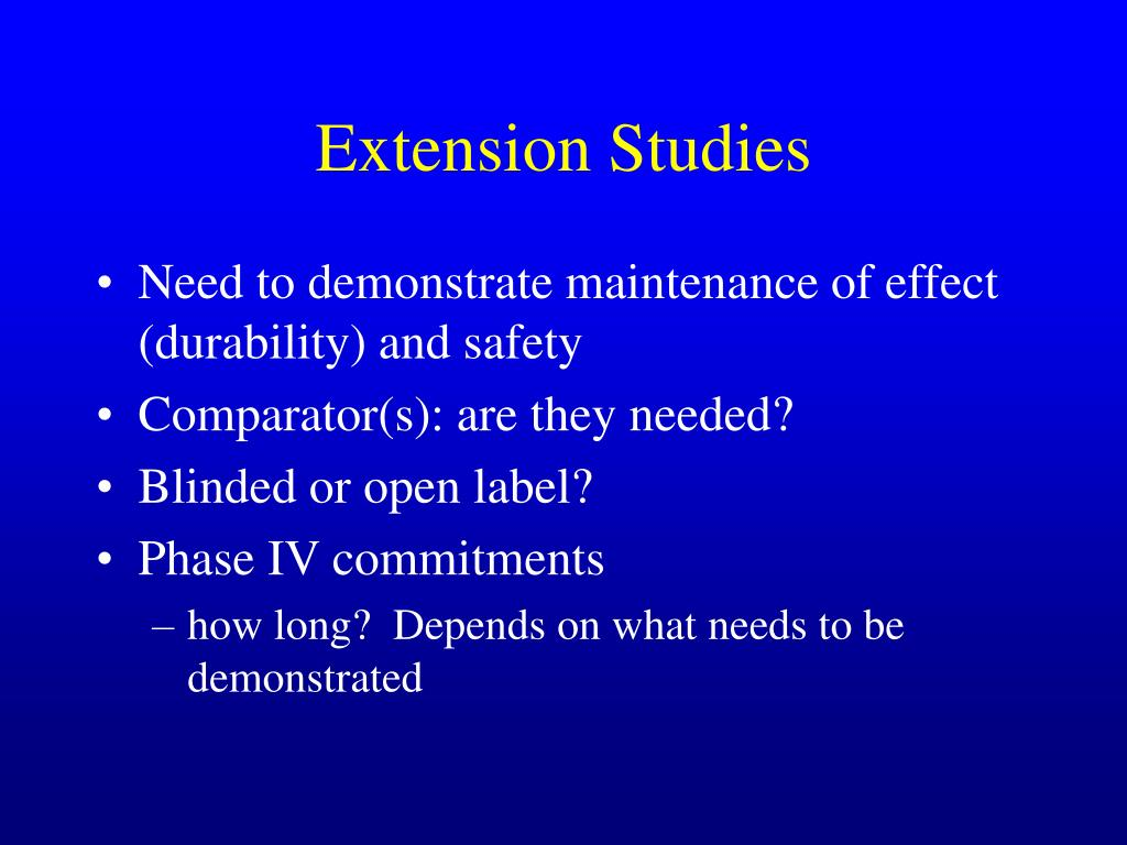 Extension Studies