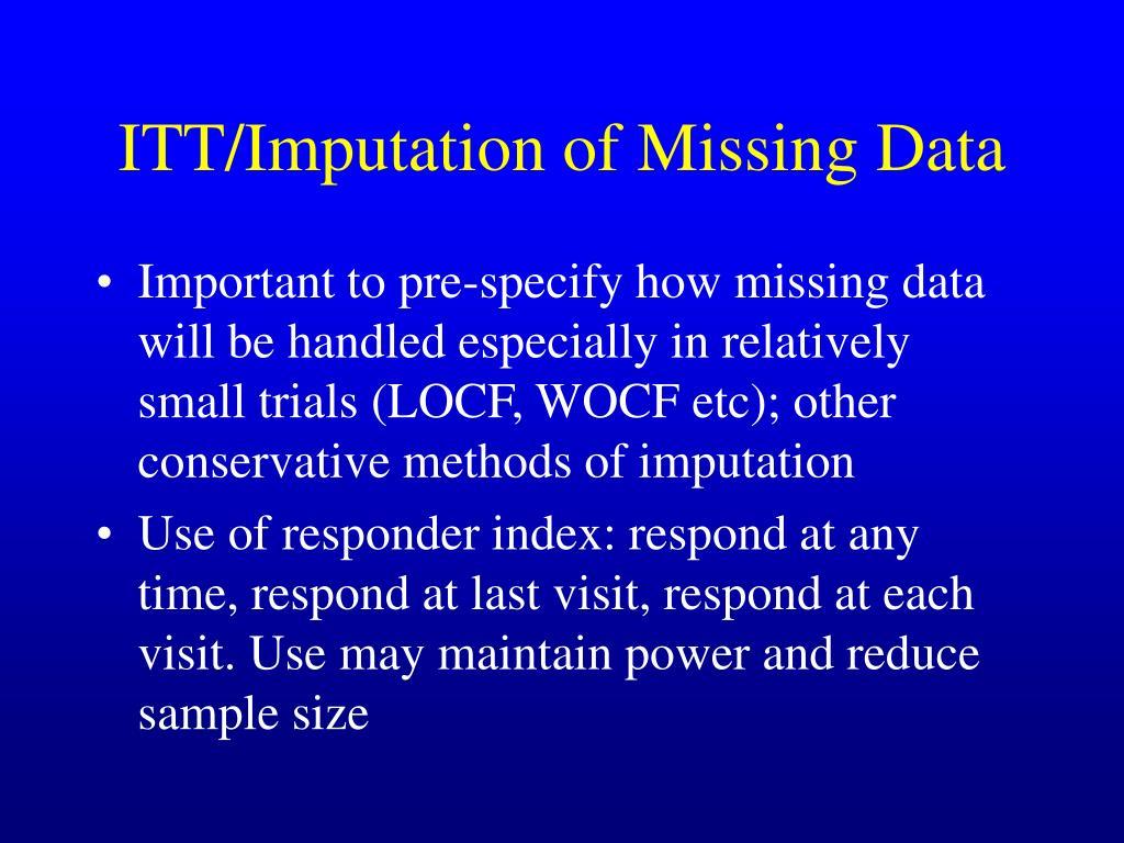 ITT/Imputation of Missing Data