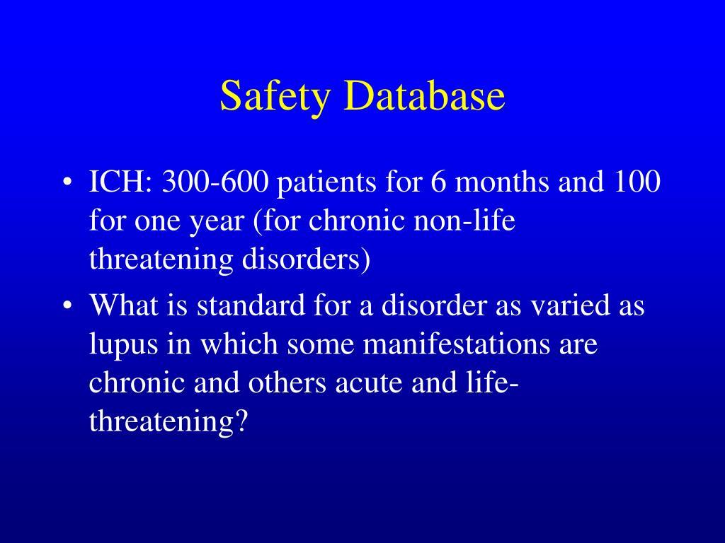 Safety Database