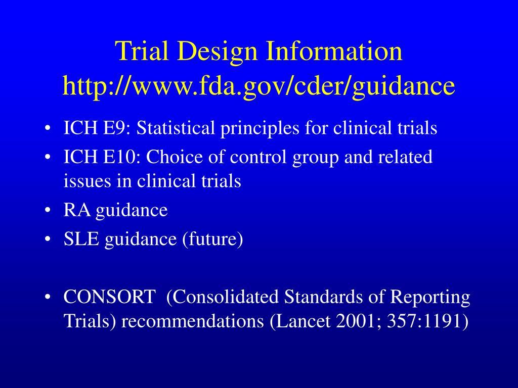 Trial Design Information