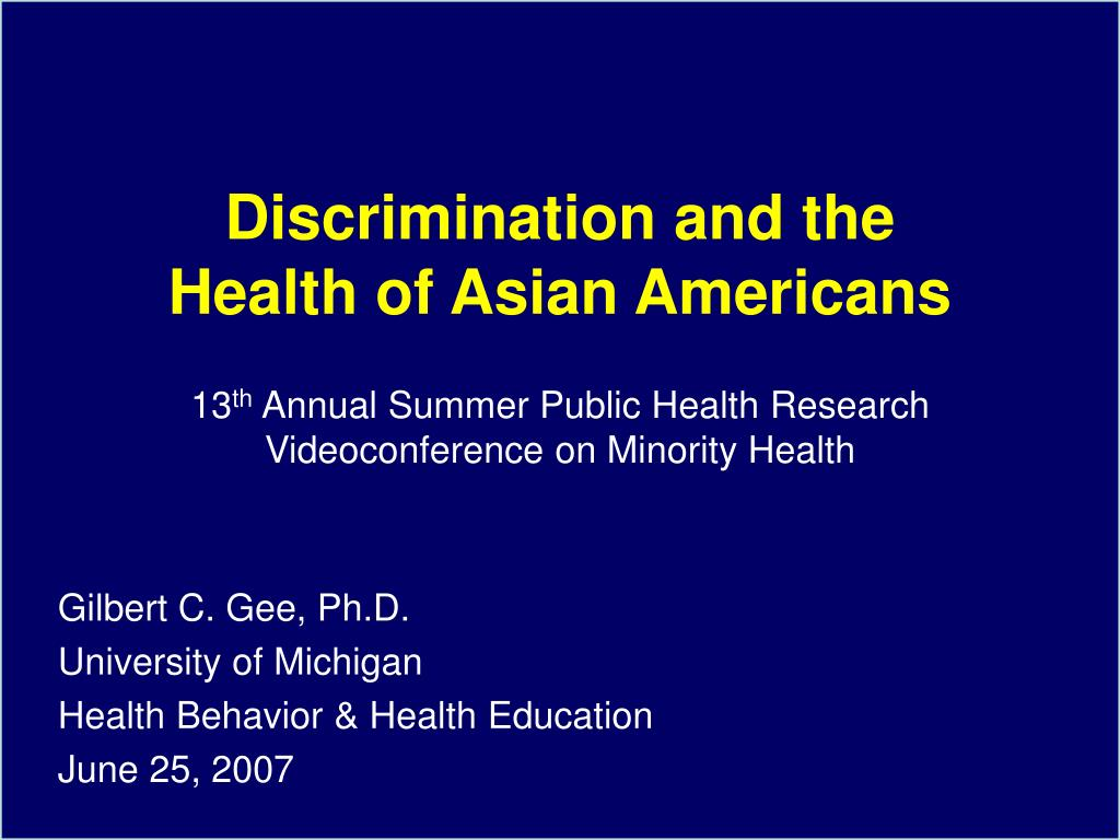 Discrimination and the