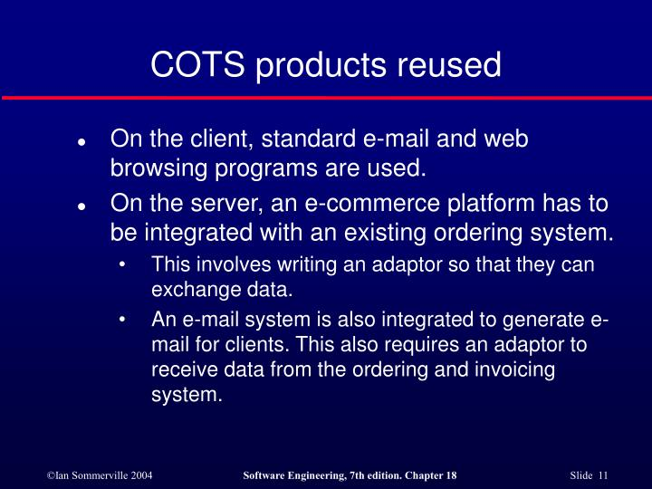 COTS products reused