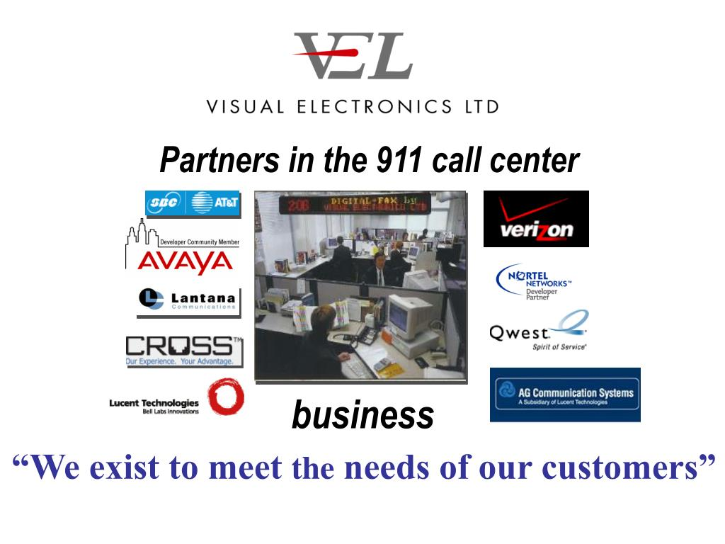 Partners in the 911 call center