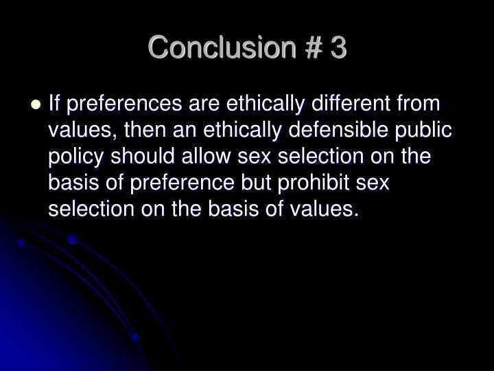 Conclusion # 3