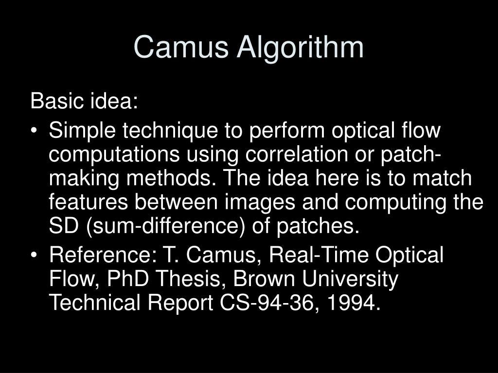 Camus Algorithm