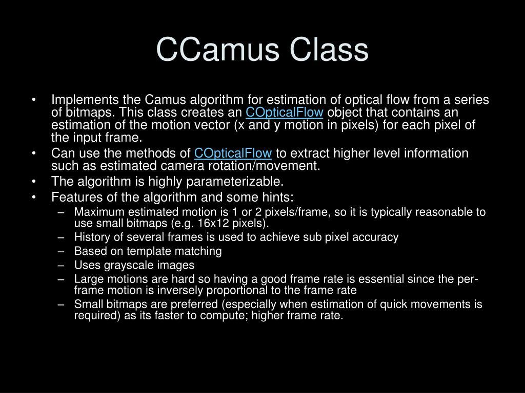 CCamus Class