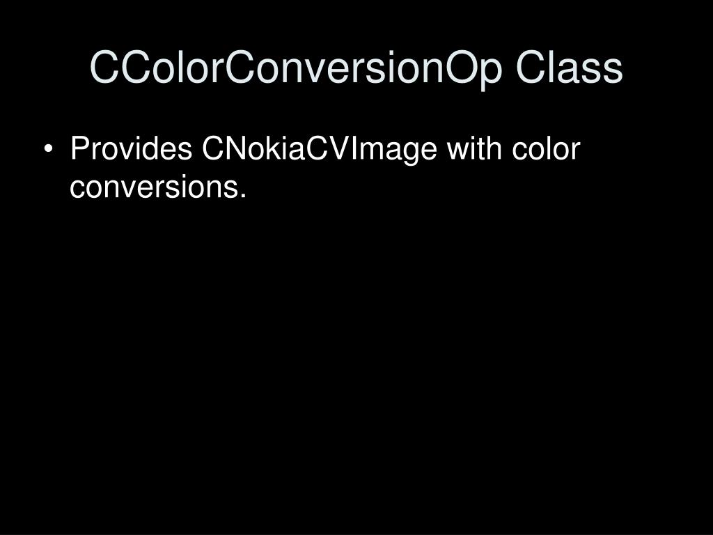 CColorConversionOp Class