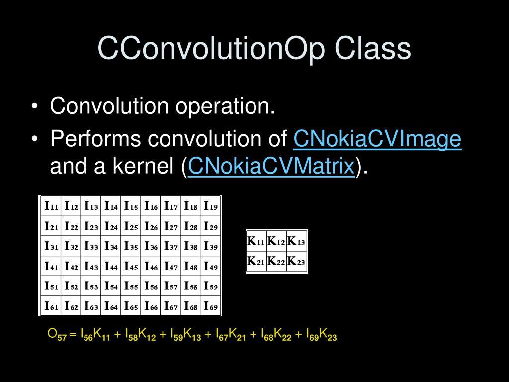 CConvolutionOp Class