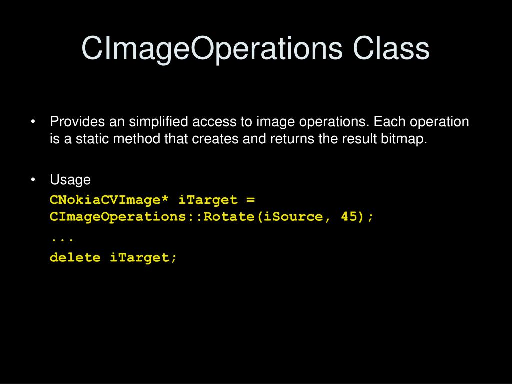 CImageOperations Class