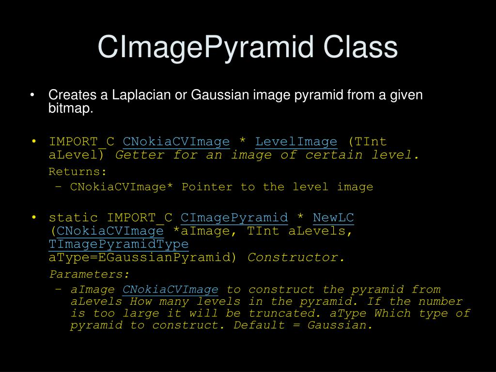 CImagePyramid Class