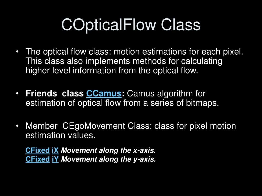 COpticalFlow Class