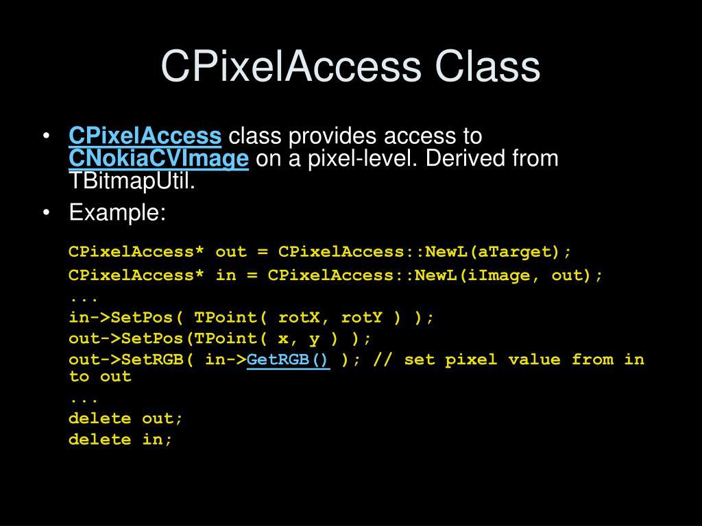 CPixelAccess Class