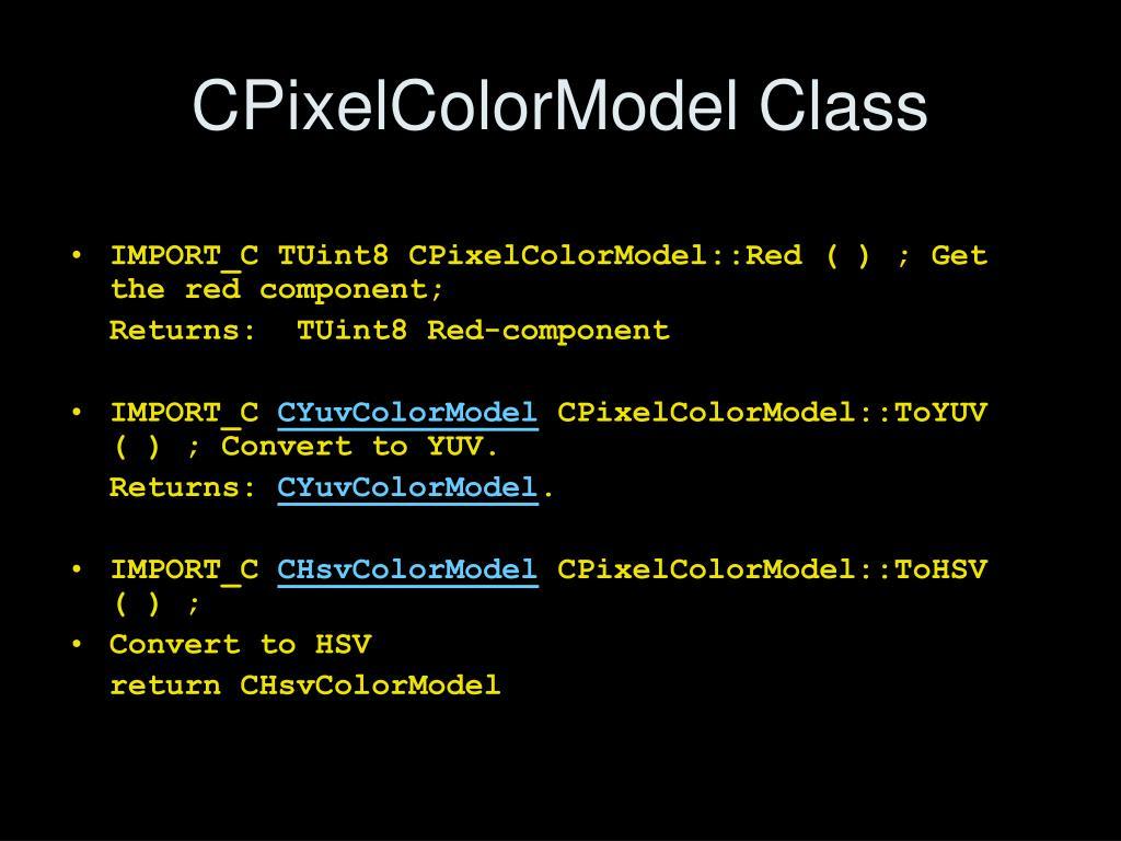 CPixelColorModel Class