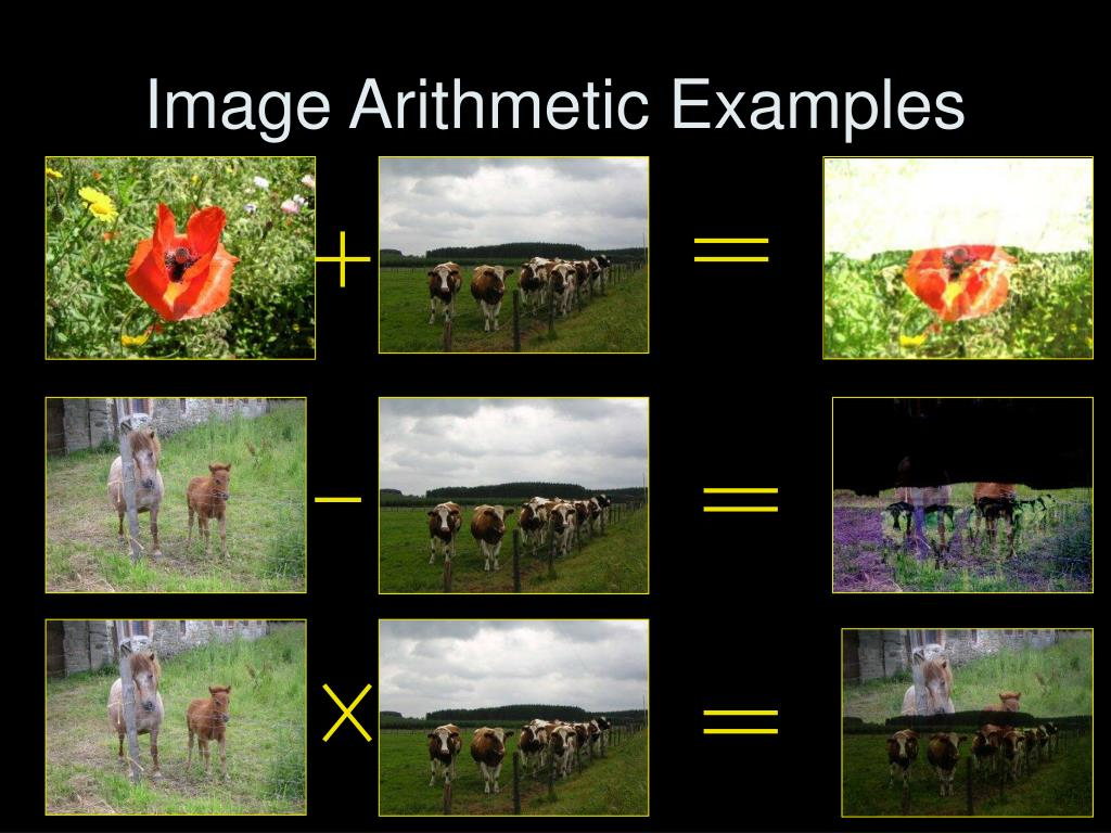 Image Arithmetic Examples