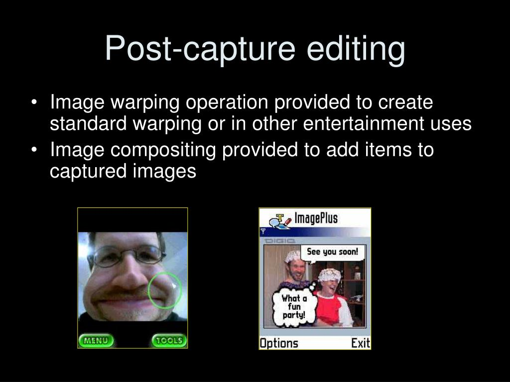 Post-capture editing