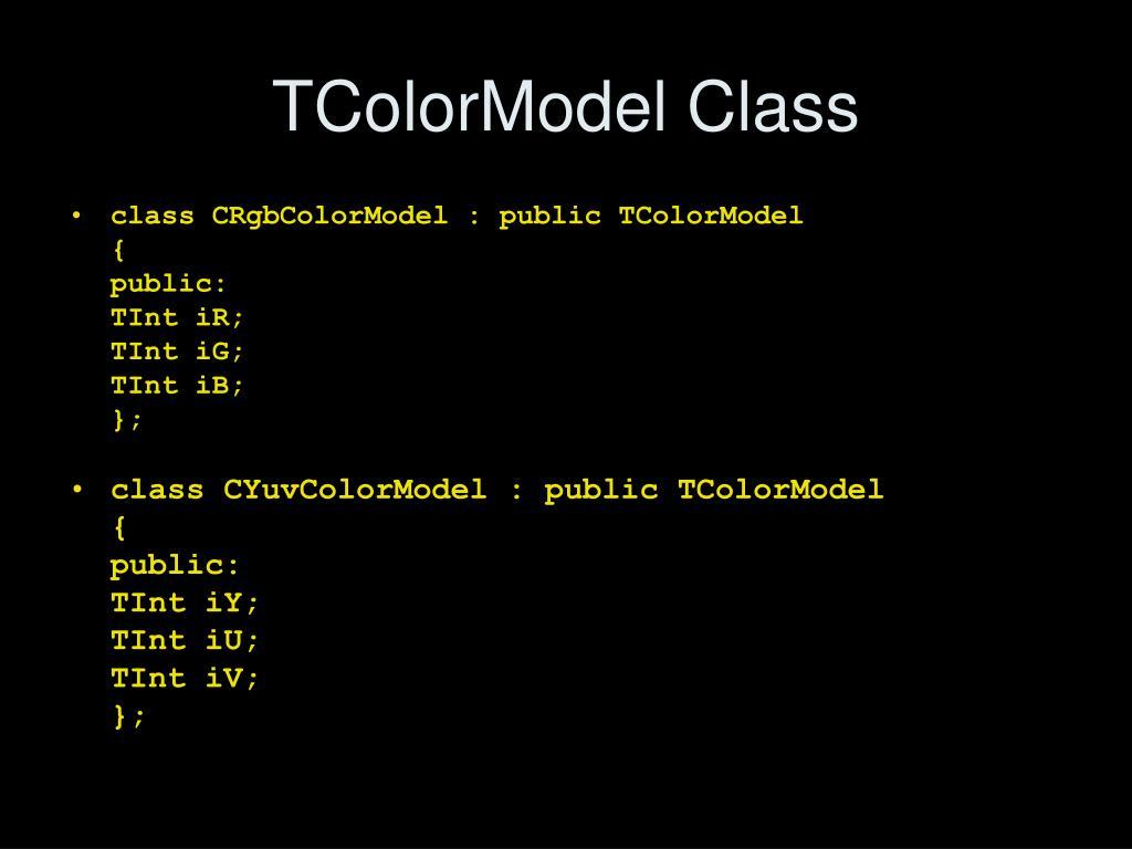 TColorModel Class