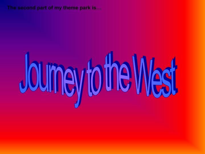 The second part of my theme park is…