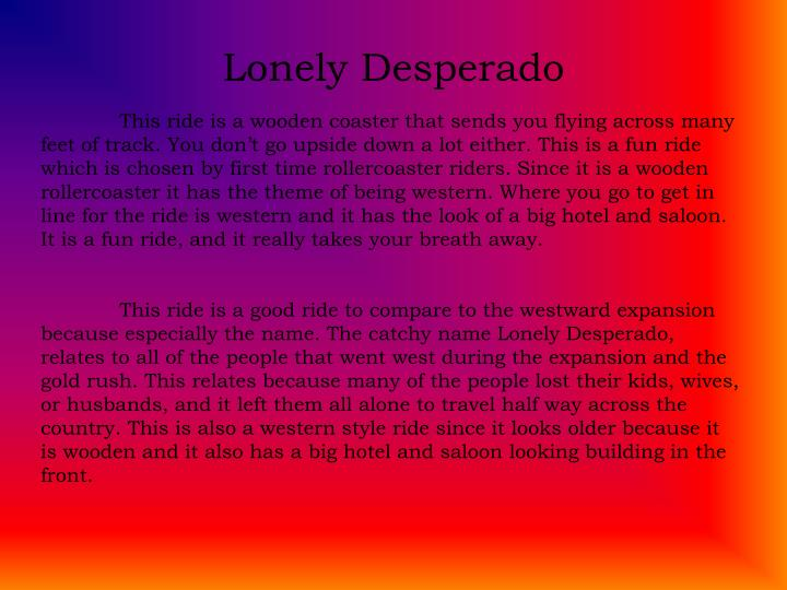Lonely Desperado
