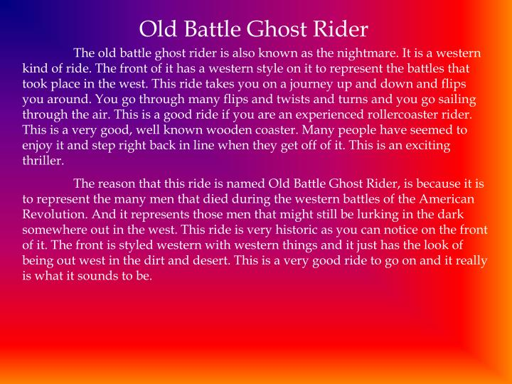 Old Battle Ghost Rider