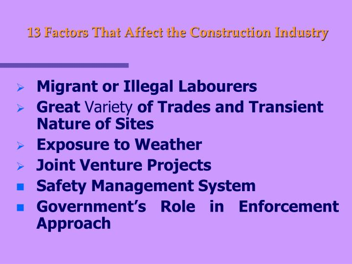 13 Factors That Affect the Construction Industry