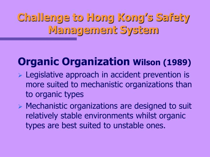 Challenge to Hong Kong's Safety Management System
