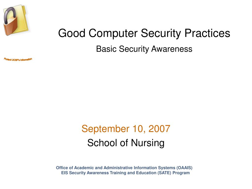 Good Computer Security Practices