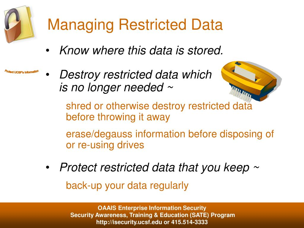 Managing Restricted Data