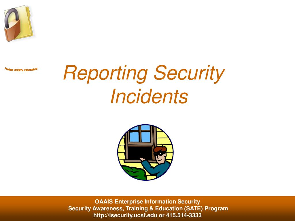 Reporting Security