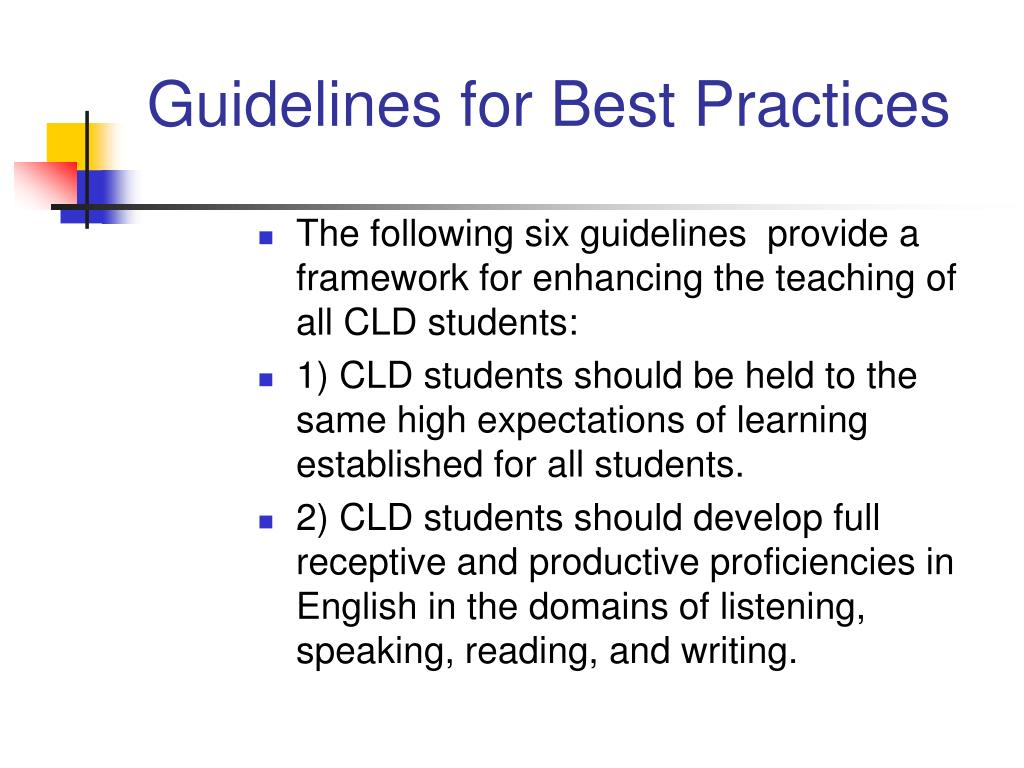 Guidelines for Best Practices