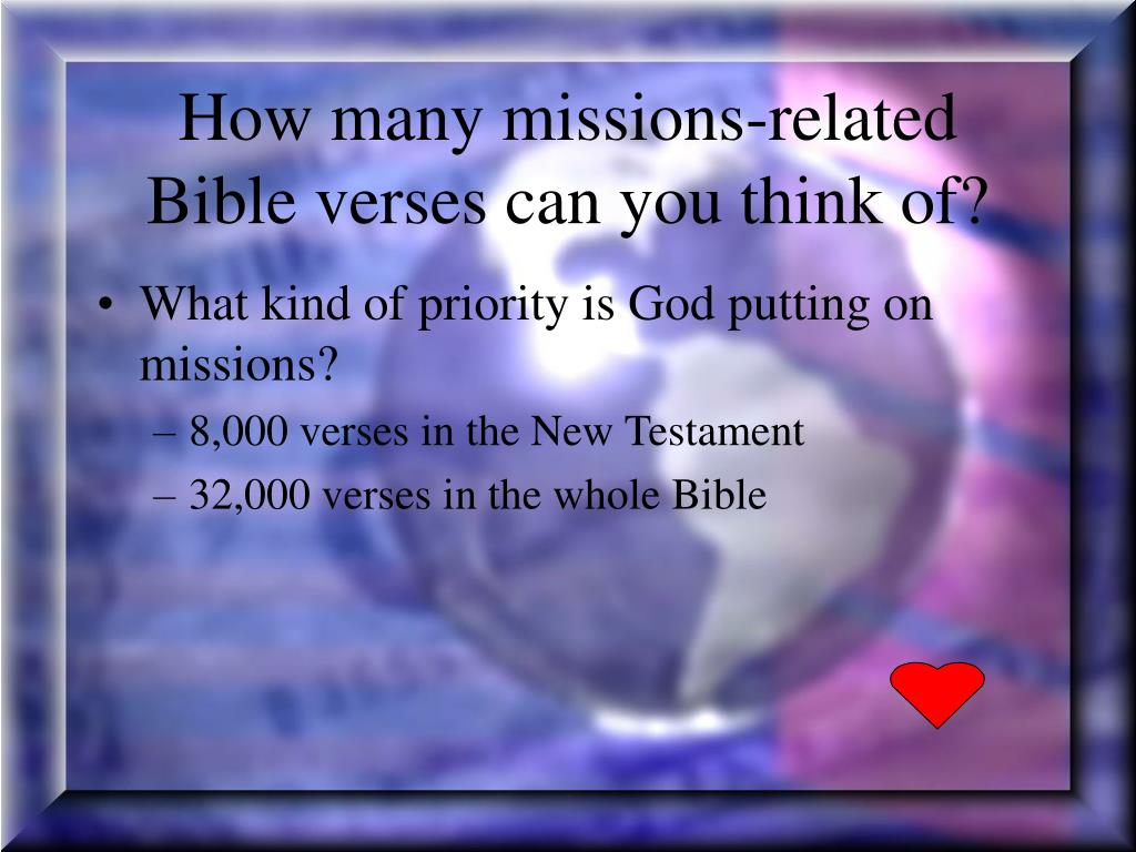 How many missions-related Bible verses can you think of?