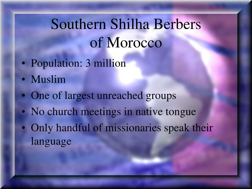 Southern Shilha Berbers