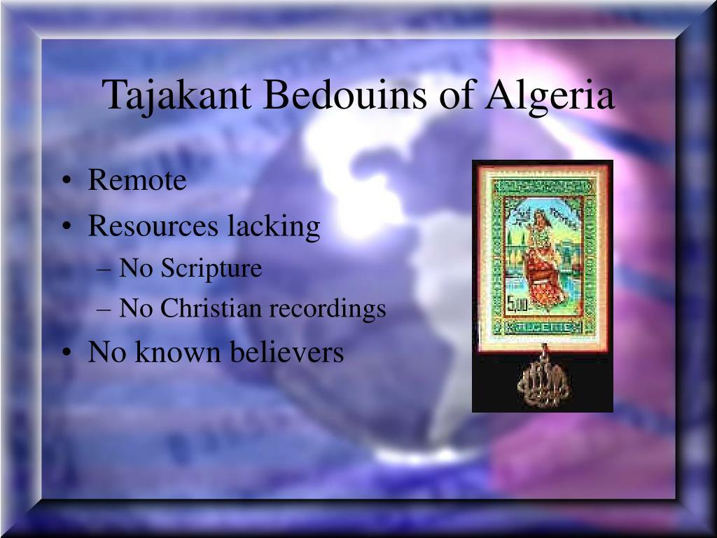 Tajakant Bedouins of Algeria