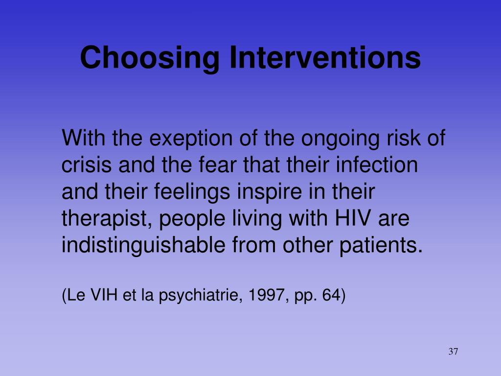 Choosing Interventions