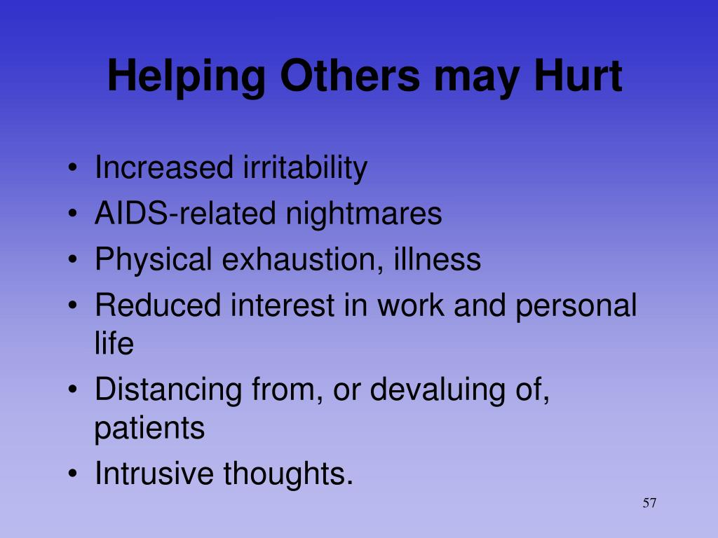 Helping Others may Hurt