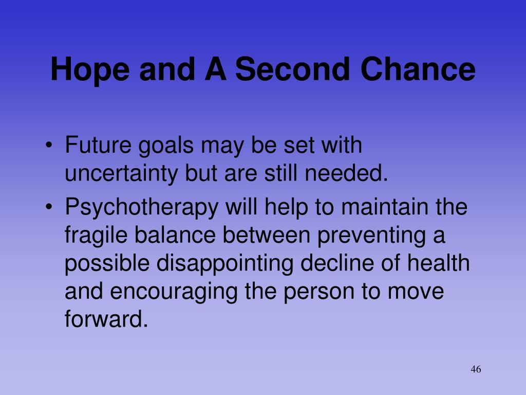 Hope and A Second Chance