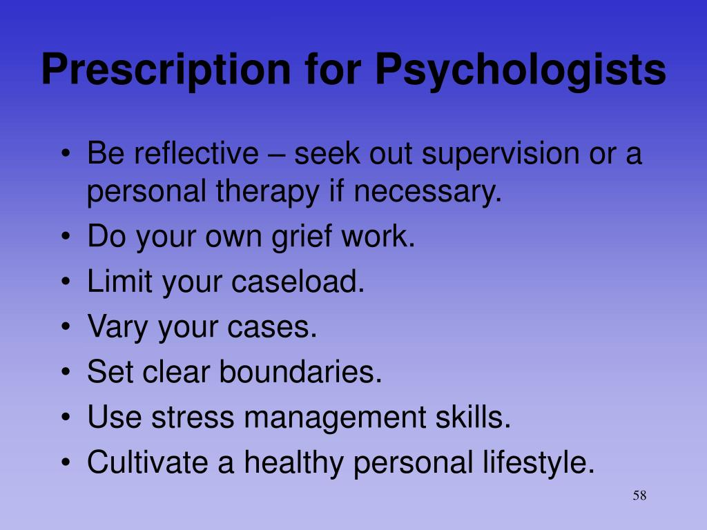 Prescription for Psychologists