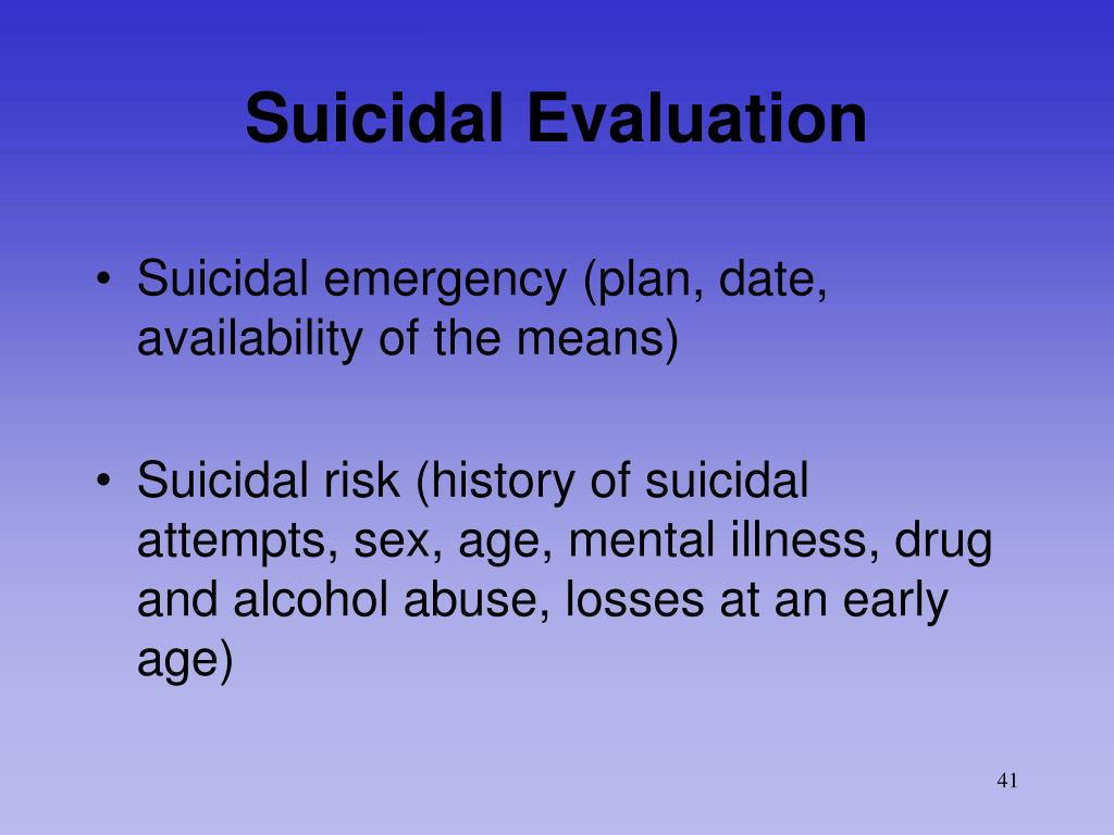Suicidal Evaluation